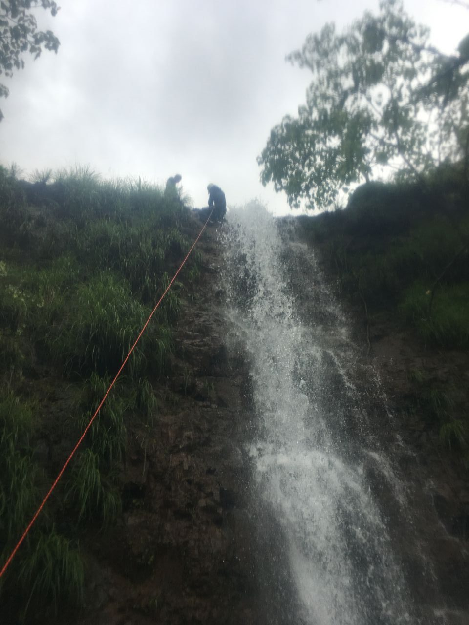 Waterfall rappelling @ Nisargshala
