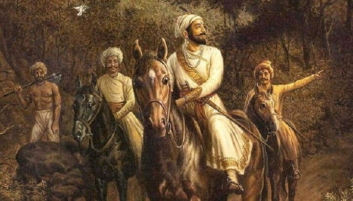 King Shivaji with his companions