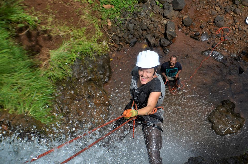 Waterfall Rappelling near Pune