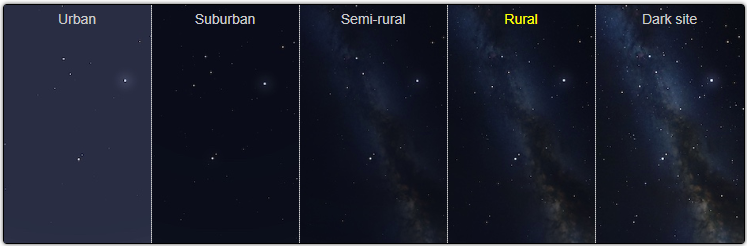 See how light pollution affects stargazing near Pune