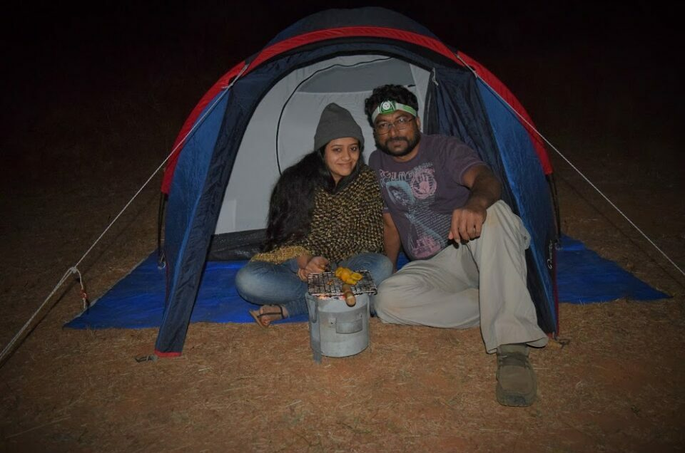 overnight couple camping near Pune